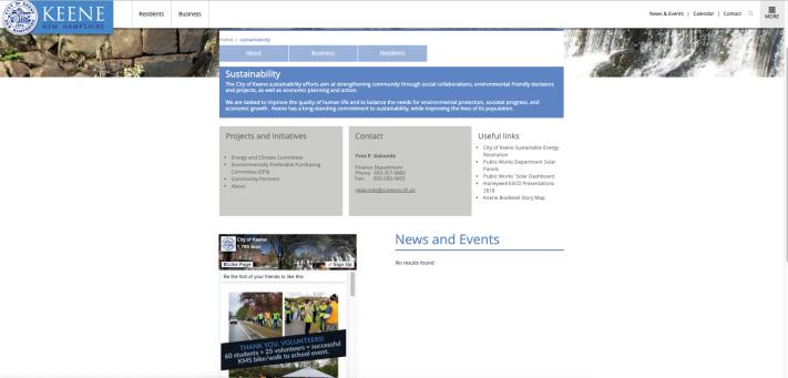 keene web site