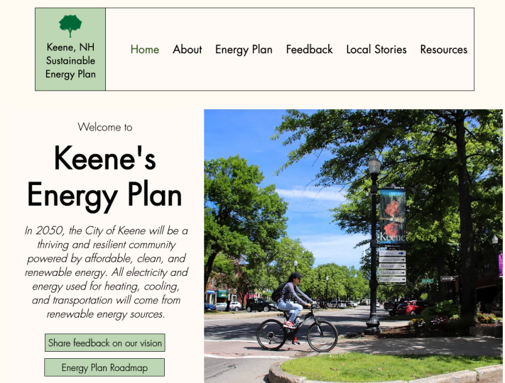 Screenshot of Clean Energy Plan website